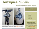 Antiques to Love home page